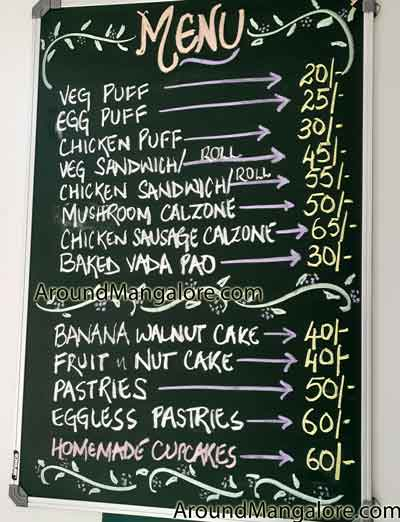 Food Menu - The 90's Buttercup - Cake Shop - Kottara, Mangalore