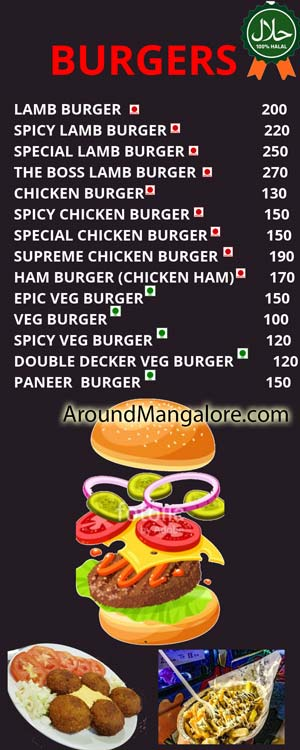 Food Menu - Stripcheese - Mangala Food Street - Bawtagudda, Light House Hill Road, Mangalore