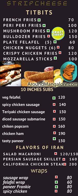 Stripcheese Mangala Food Street Bawtagudda Light House Hill Road Mangalore P2 - Stripcheese - Mangala Food Street - Light House Hill Road