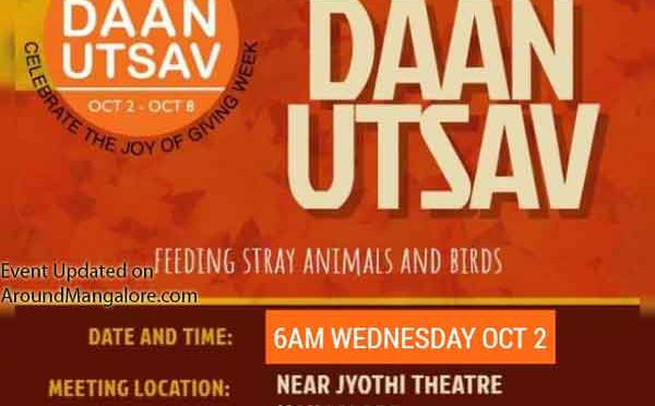 Daan Utsav - 02 Oct 2019 - Near Jyothi Theater, Mangalore - Event by Animal Care Trust