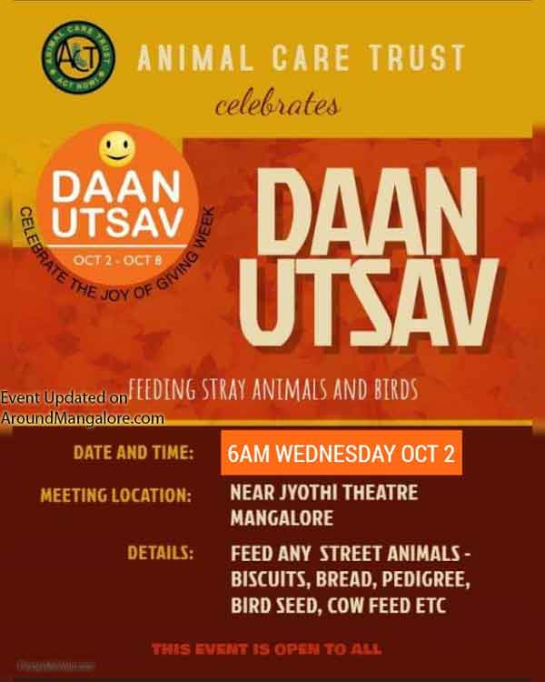 Daan Utsav - 02 Oct 2019 - Near Jyothi Theater, Mangalore - Event by Animal Care Trust