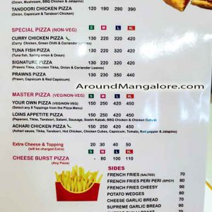 Food & Pizza Menu - Laziz Pizza - Kuntikana, Mangalore