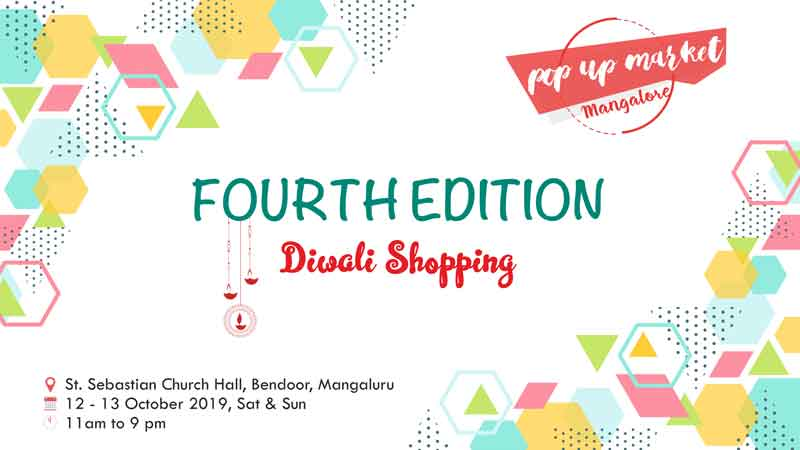 Pop Up Market - Fourth Edition - 12 & 13 Oct 2019 - St Sebastian Church Hall, Bendoor, Mangalore