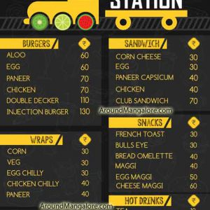Food Menu - De Juice Station, Morgans Gate, Jeppu, Mangalore