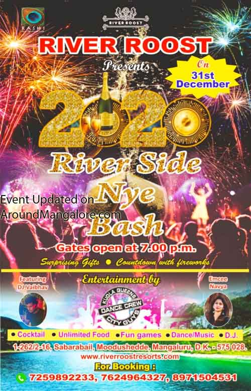 2020 River Side NYE Bash - River Roost - Mangalore - New Year Party