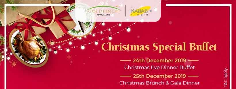 Christmas Special Buffet - 24 and 25 Dec 2019 - Goldfinch Mangalore