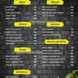 Food Menu - Green Owl - Cafe - Restaurant - Balmatta, Mangalore