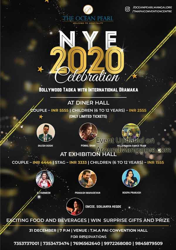 NYE 2020 Celebration - 31 Dec - TMA Pai Convention Hall - The Ocean Pearl, Mangalore