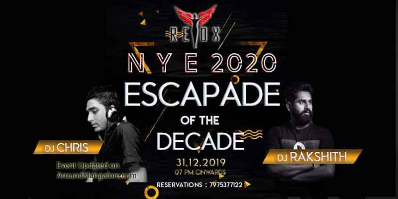 NYE 2020 - Escapade of the Decade - Retox - Mangalore - New Year Party
