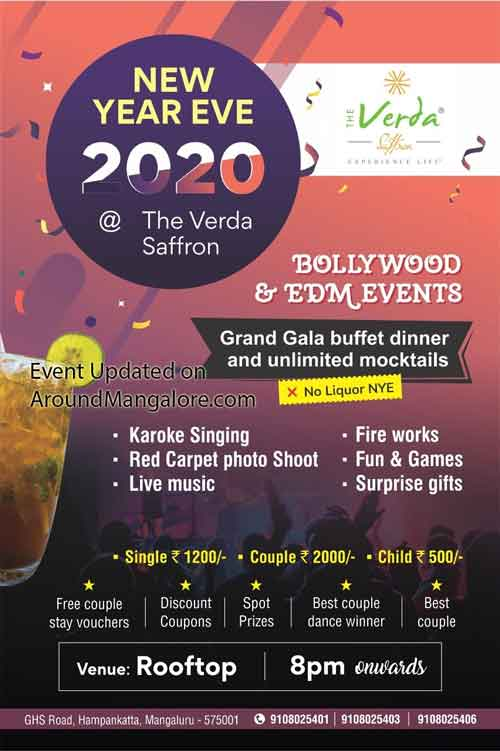New Year Eve 2020 The Verda Saffron Mangalore - New Year 2020 - Party – Events – Celebrations – Around Mangalore