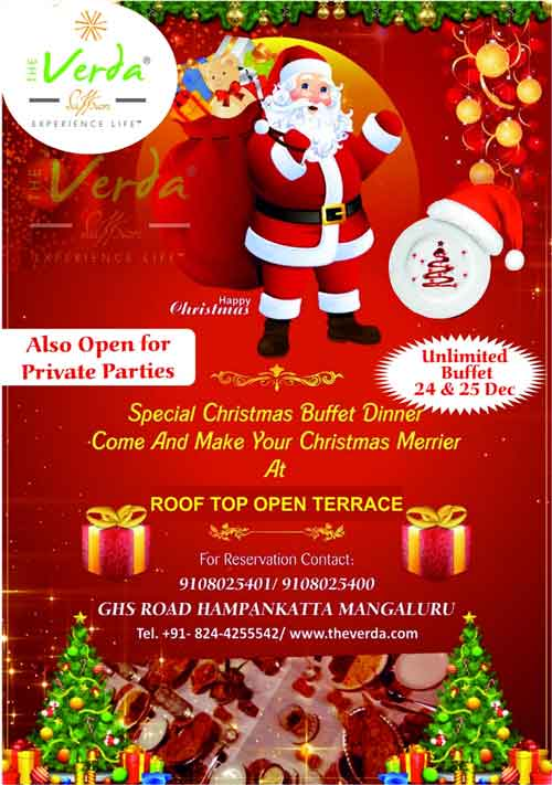 Special Christmas Buffet Dinner - 24 & 25 Dec 2019 - The Verda, Saffron, Mangalore