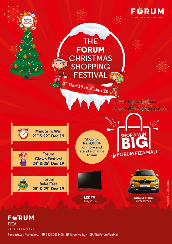 The Forum Christmas Shopping Festival - 2019 - The Forum Fiza Mall, Mangalore