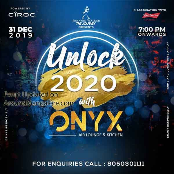 Unlock 2020 with ONYX - 31 Dec 2019 - Onyx Mangalore - New Year Party