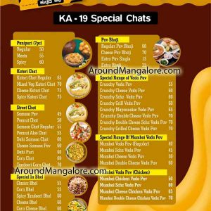 Food Menu - KA19 Kudlada Cafe - Hampankatta, Mangalore