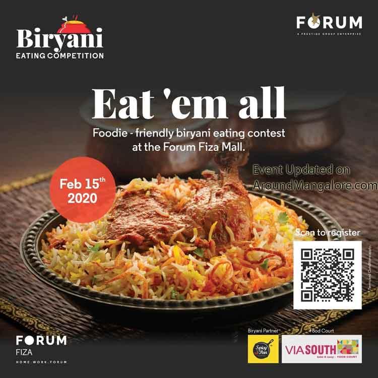 Eat'em All - Biryani Eating Competition - 15 Feb 2020 - Forum Fiza Mall, Pandeshwar, Mangalore