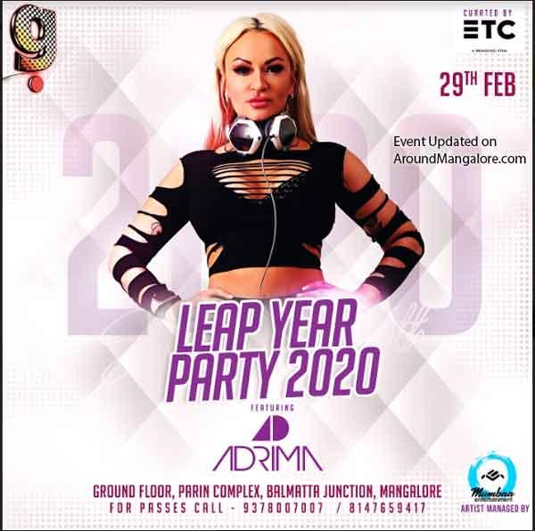 Leap Year Party 2020 – 29 Feb 2020 – DJ Adrima