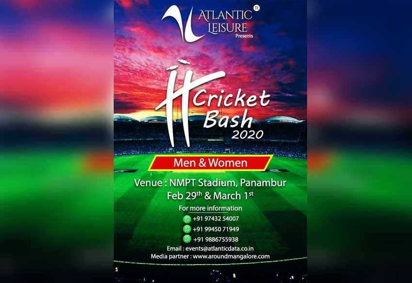 IT Cricket Bash 2020 - 29 Feb and 1 Mar 2020 - NMPT Ground, Mangalore - Event by Atlantic Leisure (Atlantic Data - ADBS)