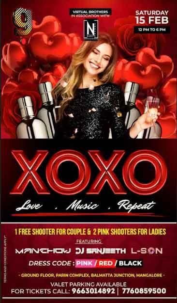XOXO - LOVE*MUSIC*REPEAT - 15 Feb 2020 - G Food and Fun, Balmatta, Mangalore