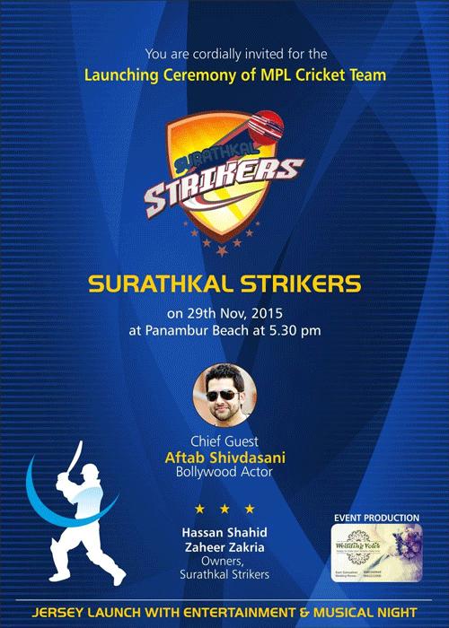 Launching Ceremony of MPL Cricket Team, Mangalore - 29-Nov-2015