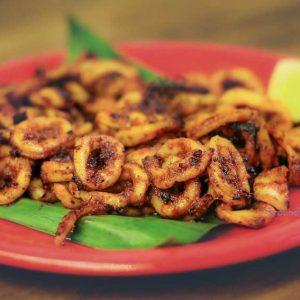 Squid Tawa Fry - Mangala Restaurant, Valencia, Mangalore