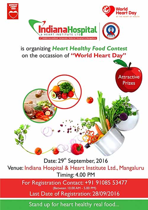 Heart Health Food Contest – 29 Sep 2016