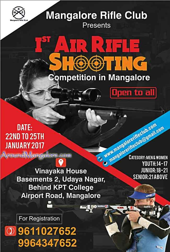 Air Rifle Shooting Competition - 22 to 25 Jan 2017 - Vinayaka House, Airport Road, Mangalore