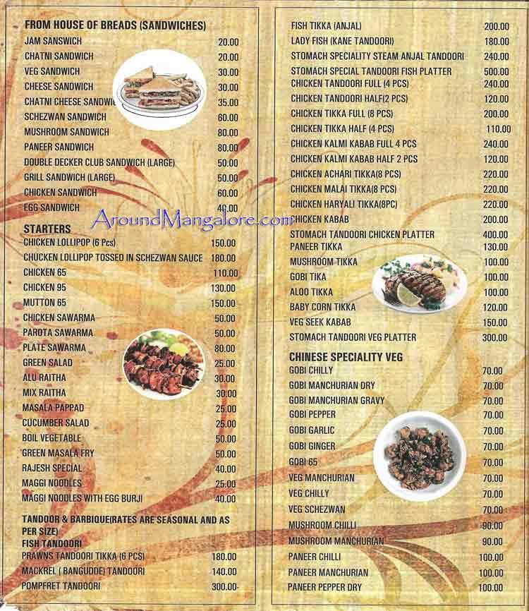 Food Menu Stomach Food Cafe Surathkal NITK Mangalore P4 - Stomach Food Cafe - Surathkal