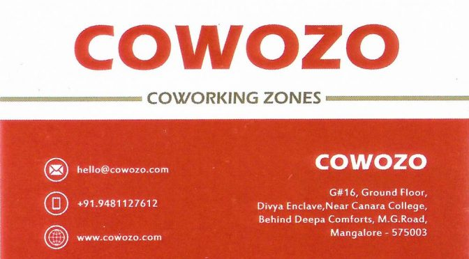 COWOZO - COWORKING Zone In Mangalore