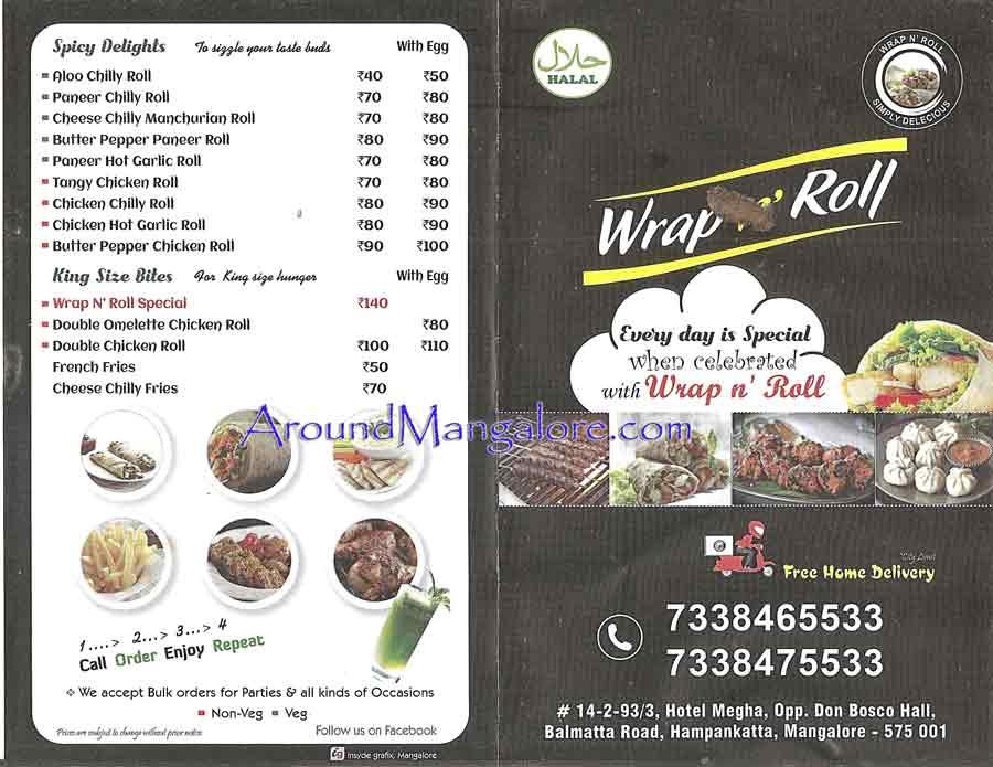 Food Menu Wrap n Roll Balmatta Road Mangalore - Wrap n Roll - Balmatta Road