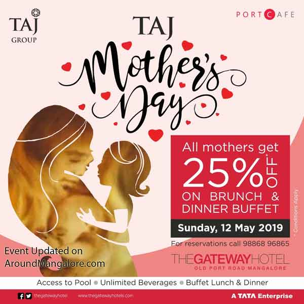 Celebrate Mother's Day at Taj, Mangalore