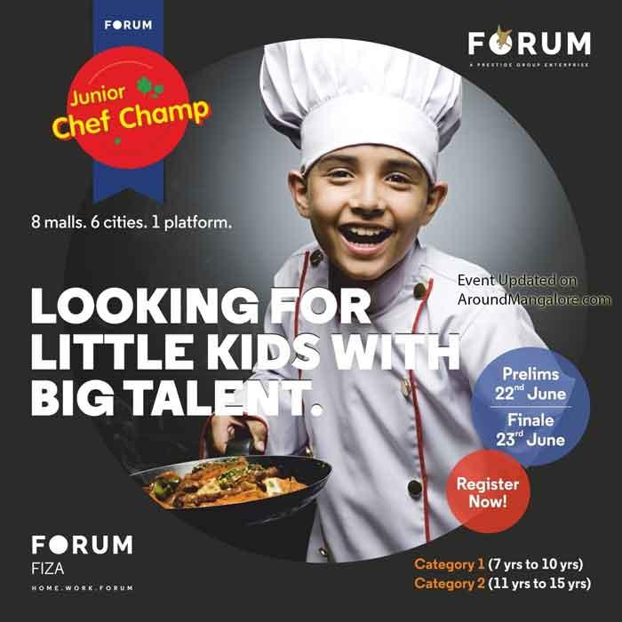 Junior Chef Champ - 23 Jun 2019 - Forum Fiza Mall, Mangalore