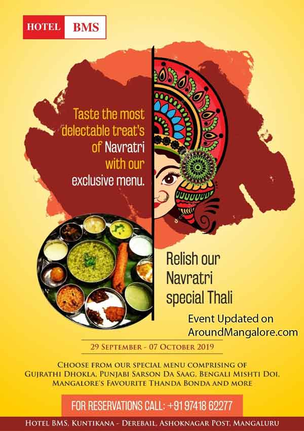 Navratri Special Thali - 29 Sep to 07 Oct 2019 - Hotel BMS, Derebail, Mangalore