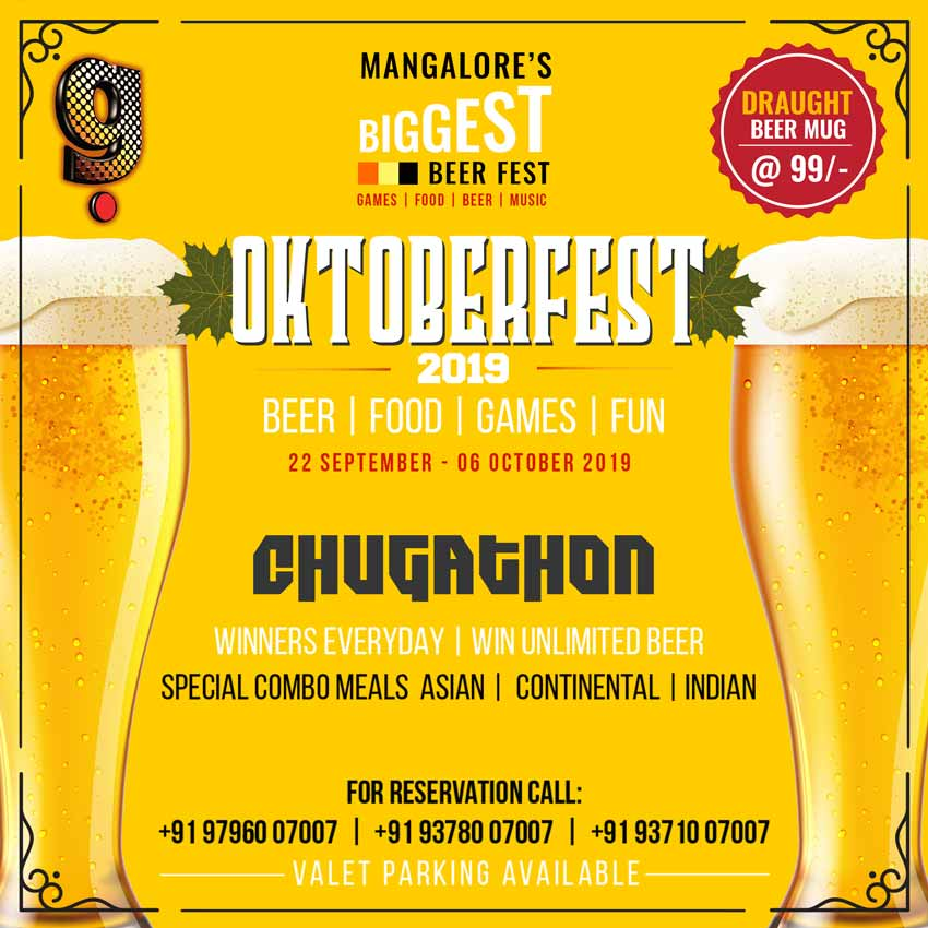 Oktober Fest 2019 - 22 Sep to 6 Oct 2019 - G Food & Fun, Balmatta, Mangalore