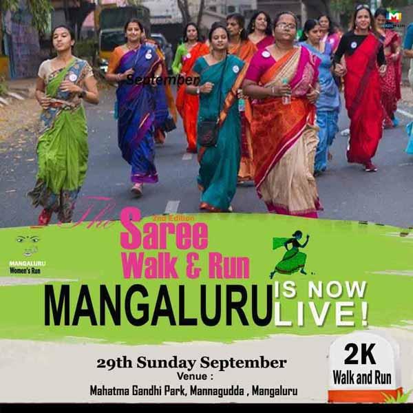 The Saree Walk & Run - 29 Sep 2019 - Mahatma Gandhi Park, Mannagudda, Mangalore