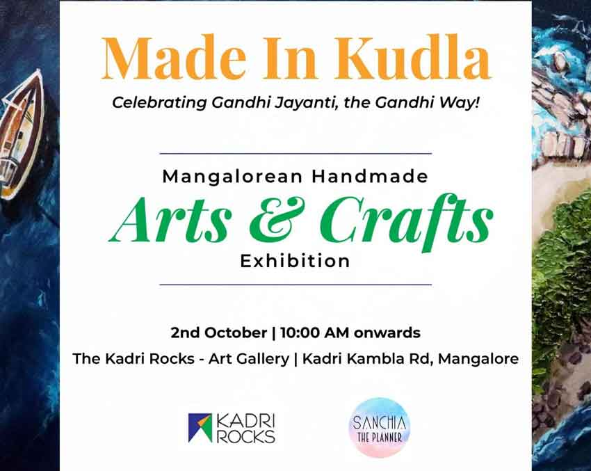 Mangalorean Handmade - Arts & Crafts Exhibition - 2 Oct 2019 - The Kadri Rocks, Mangalore