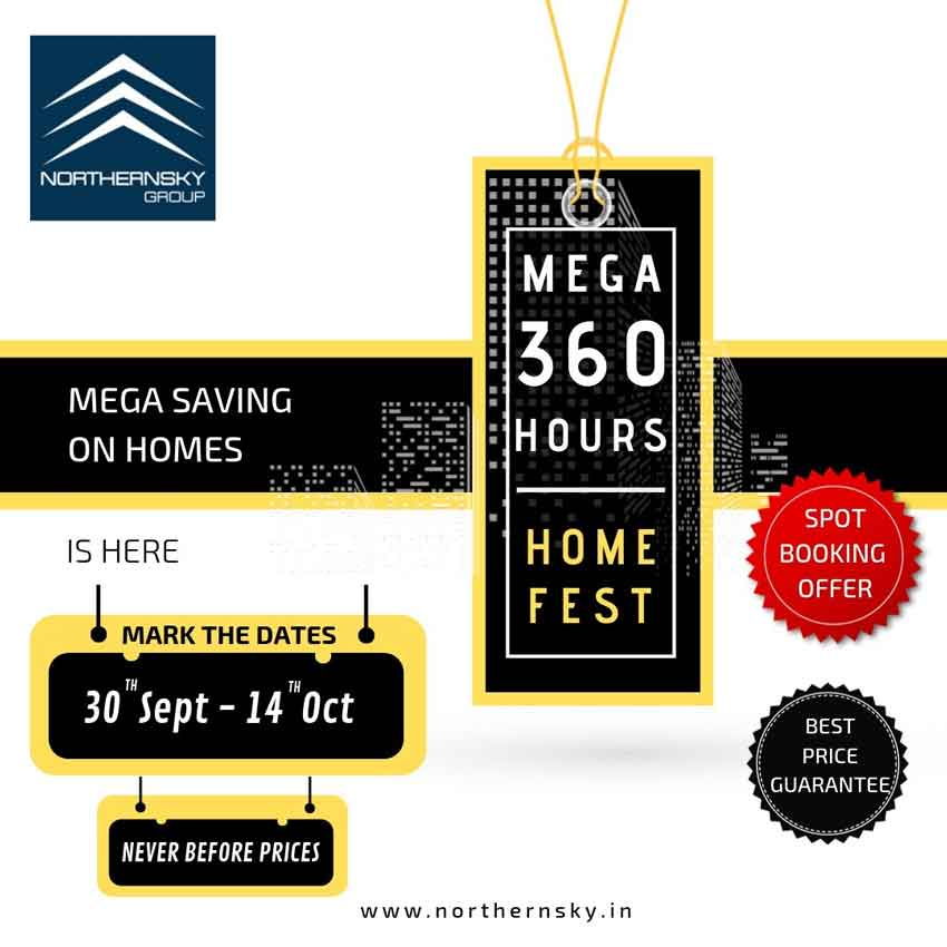 Mega 360 Hours Home Fest - 30 Sep to 14 Oct 2019 - Northern Sky properties, Mangalore