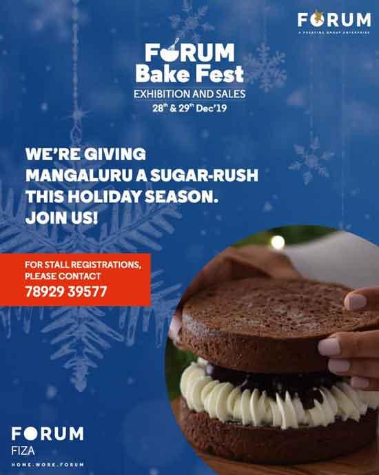 Forum Bake Fest - 28 & 29 Dec 2019 - The Forum Fiza Mall, Mangalore