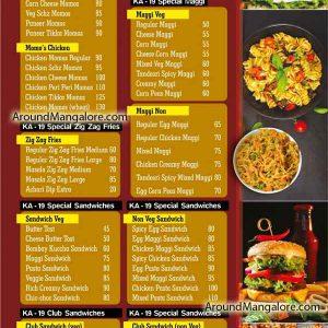 Food Menu - KA19 Kudlada Cafe - Hampankatta, Mangalore