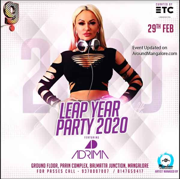 Leap Year Party 2020 – 29 Feb 2020 – DJ Adrima