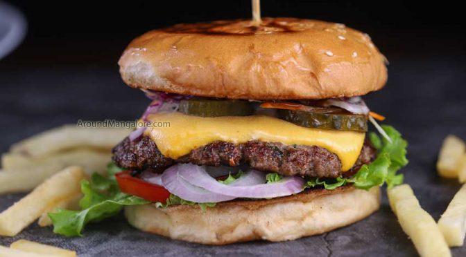 Smoked Meat Burger - Grub n Stuff - Falnir, Mangalore
