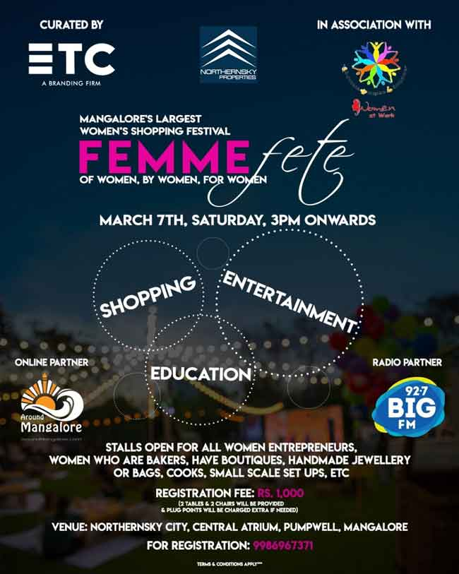 Femme Fete – 7 Mar 2020 – NorthernSky City, Mangalore