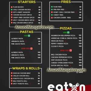 Food Menu – EatOn – Food Delivery – Mangalore