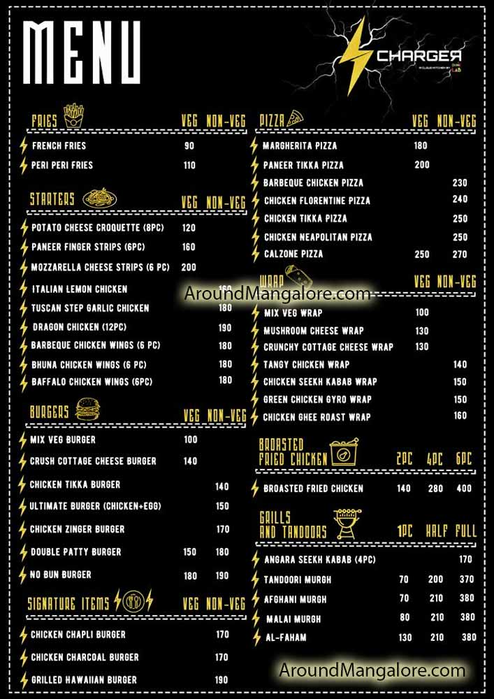 Food Menu Charger Cloud Kitchen Food Delivery Mangalore P1 - Charger - Cloud Kitchen & Food Delivery