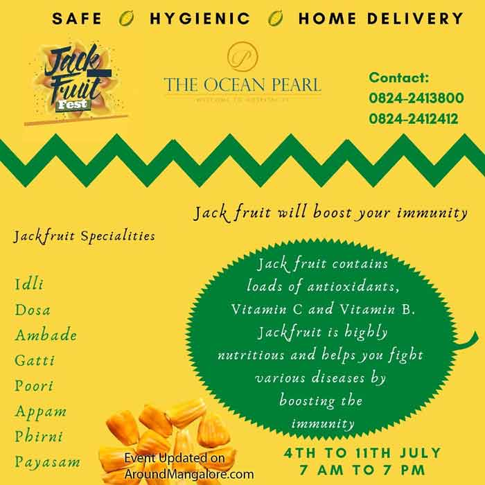 Food Menu - Jackfruit Fest - 4 to 11 Jul 2020 - Sagar Ratna, The Ocean Pearl, Mangalore