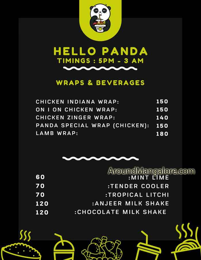 Food Menu Hello Panda Cloud Kitchen in Mangalore P2 - Hello Panda - Cloud Kitchen