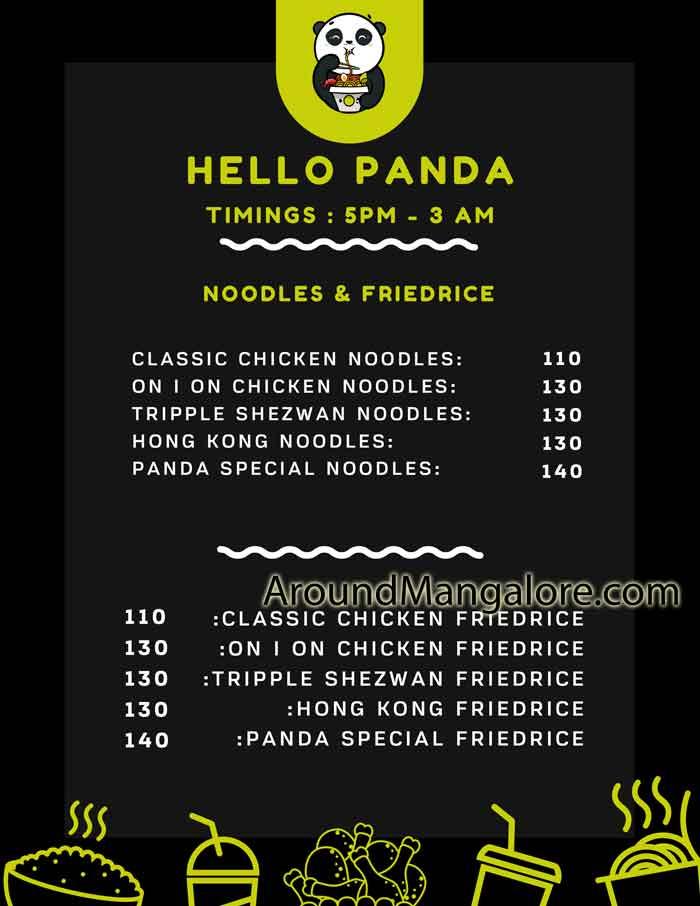 Food Menu Hello Panda Cloud Kitchen in Mangalore P3 - Hello Panda - Cloud Kitchen