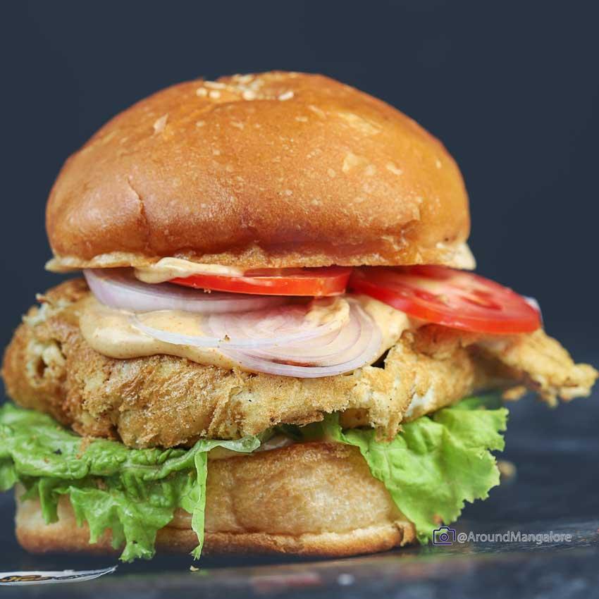 Malaysian Chicken Burger Soushee Bites Kodailbail Mangalore - Soushee Bites - Kodailbail