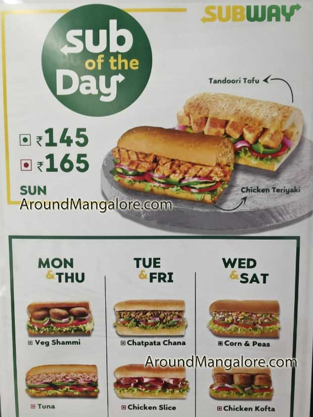 Sub of the Day Subway City Centre Mall Mangalore - Subway - City Centre Mall, Mangalore