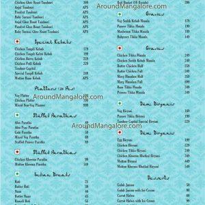 Food Menu - Tandoor Capital - Chilimbi, Mangalore