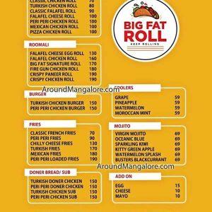 Food Menu - Big Fat Roll - Balmatta & Attavar, Mangalore